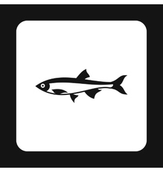 Herring icon simple style vector