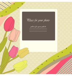 Retro baby card vector image