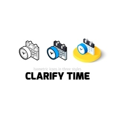 Clarify time icon in different style vector