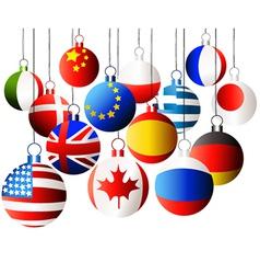 Christmas international balls vector