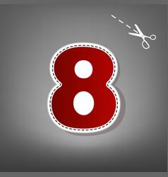 number 8 sign design template element  red vector image