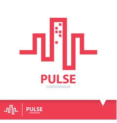 pulse condominium icon symbol vector image