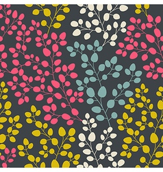 Seamless abstract hand-drawn pattern leaf backdrop vector