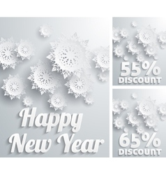 Happy new year discount percent vector