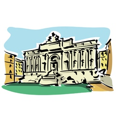 Rome trevi fountain vector
