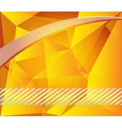 Yellow polygonal background vector