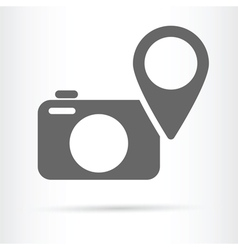 Camera geo targeting icon vector