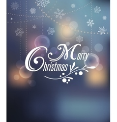 Light bokeh christmas background with typography vector