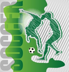 scribble soccer poster vector image