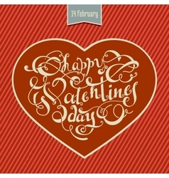 Valentines day card design with hand-drawing text vector