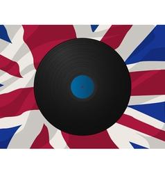 vintage vinyl disk vector image