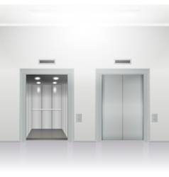 Open and close elevator vector