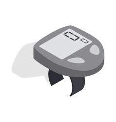 Bicycle speedometer computer icon vector