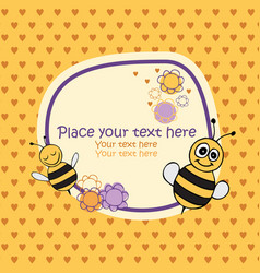 bee card vector image vector image