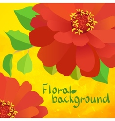 border background with flowers vector image
