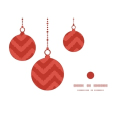 Colorful ikat chevron christmas ornaments vector