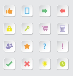 Colorful web icon set 2 vector image