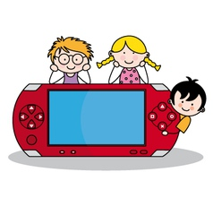 Console vector image vector image