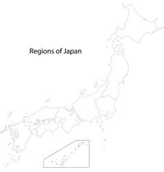 Contour japan map vector