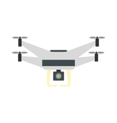 Drone with camera icon flat style vector image