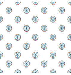 Ferris wheel pattern vector