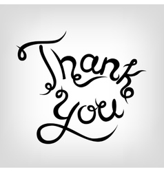 Hand-drawn Lettering Thank you vector image