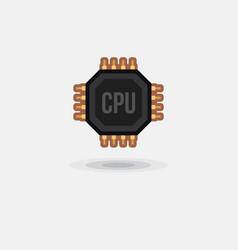 Icon processor gpu cpu isolated vector