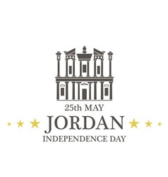 Independence Day Jordan vector image vector image