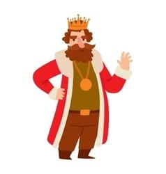 King cartoon character vector
