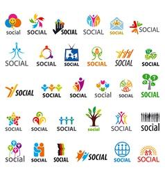 Large set of logos social vector
