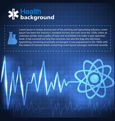 Medical blue background vector