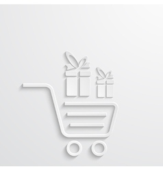 modern shopping background with gifts vector image
