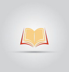 open book isolated colored icon vector image vector image