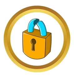 Padlock which is broken icon vector image