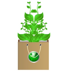 plants in bag vector image vector image