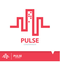 Pulse condominium icon symbol vector
