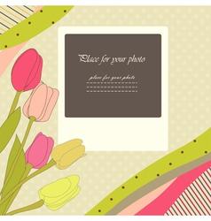 Retro baby card vector image vector image