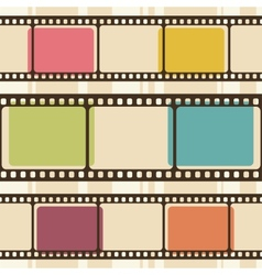 Retro background with film strips vector image