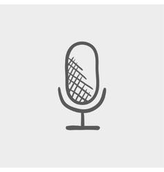 Retro microphone sketch icon vector image vector image