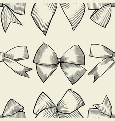 seamless pattern with tie and bow vector image