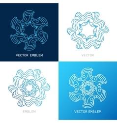 sign concept logos sea vector image