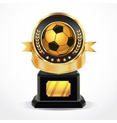 Soccer Golden Award Medals vector image