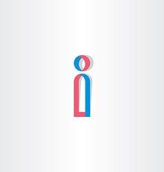 stylized letter i logotype logo vector image vector image