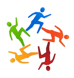 Team Runners 5 vector image vector image