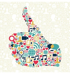 Thumb up Social media vector image