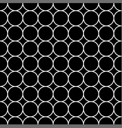 white circle japanese seamless on black vector image vector image