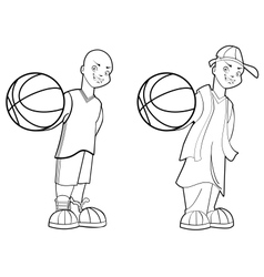 Basketball teen vector