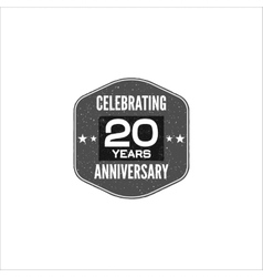 Celebrating 20 years anniversary badge sign and vector