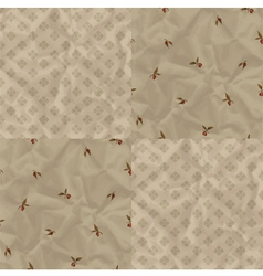 Vintage pattern with plums vector image