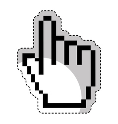 Hand pointer cursor icon vector